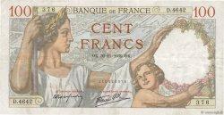 100 Francs SULLY FRANCE  1939 F.26.16 TTB
