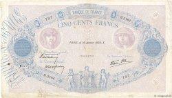 500 Francs BLEU ET ROSE modifié FRANCE  1939 F.31.23 TB