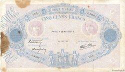 500 Francs BLEU ET ROSE modifié FRANCE  1939 F.31.32