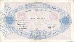 500 Francs BLEU ET ROSE modifié FRANCE  1939 F.31.42 pr.TTB