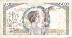 5000 Francs VICTOIRE Impression à plat FRANCE  1939 F.46.09 TB