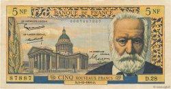 5 Nouveaux Francs VICTOR HUGO FRANCE  1959 F.56.04 TTB