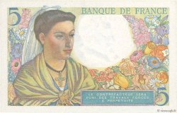 5 Francs BERGER FRANCE  1943 F.05.01 NEUF