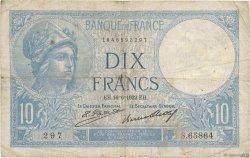 10 Francs MINERVE FRANCE  1932 F.06.16 pr.TB