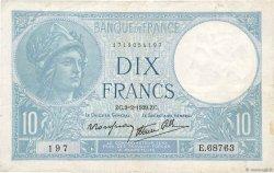 10 Francs MINERVE modifié FRANCE  1939 F.07.01 pr.TTB