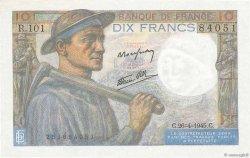 10 Francs MINEUR FRANCE  1945 F.08.14 pr.NEUF