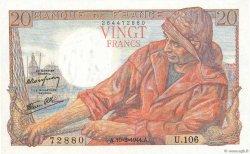 20 Francs PÊCHEUR FRANCE  1944 F.13.08 SPL+