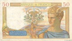 50 Francs CÉRÈS modifié FRANCE  1939 F.18.21 TB+