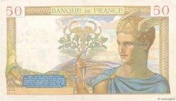 50 Francs CÉRÈS modifié FRANCE  1940 F.18.42 TTB+