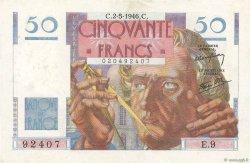 50 Francs LE VERRIER FRANCE  1946 F.20.03 pr.SUP