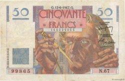 50 Francs LE VERRIER FRANCE  1947 F.20.08 TB+