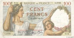 100 Francs SULLY FRANCE  1939 F.26.12