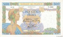 500 Francs LA PAIX FRANCE  1941 F.32.12 TTB+