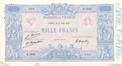 1000 Francs BLEU ET ROSE FRANCE  1925 F.36.41 TTB+