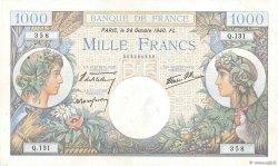 1000 Francs COMMERCE ET INDUSTRIE FRANCE  1940 F.39.01 TTB+