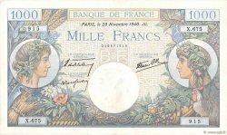 1000 Francs COMMERCE ET INDUSTRIE FRANKREICH  1940 F.39.02 VZ+