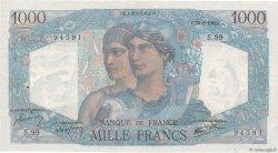 1000 Francs MINERVE ET HERCULE FRANCE  1945 F.41.07 pr.SPL