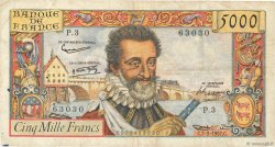 5000 Francs HENRI IV FRANCE  1957 F.49.01 TB