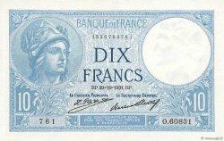 10 Francs MINERVE FRANCE  1931 F.06.15 SPL