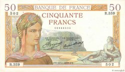 50 Francs CÉRÈS FRANCE  1935 F.17.03 pr.SUP