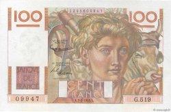 100 Francs JEUNE PAYSAN FRANCE  1953 F.28.35 SPL