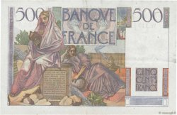 500 Francs CHATEAUBRIAND FRANCE  1952 F.34.09 TTB