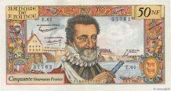 50 Nouveaux Francs HENRI IV FRANCE  1961 F.58.06 TTB+