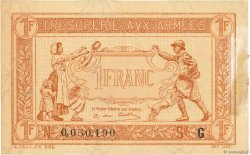 1 Franc TRÉSORERIE AUX ARMÉES FRANCE  1917 VF.03.07 TTB