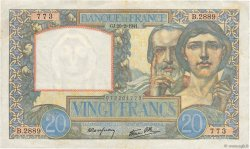 20 Francs SCIENCE ET TRAVAIL FRANCE  1941 F.12.12 pr.TTB