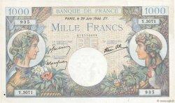 1000 Francs COMMERCE ET INDUSTRIE FRANCE  1944 F.39.09 TB