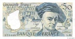 50 Francs QUENTIN DE LA TOUR FRANCE  1989 F.67.15 SUP+