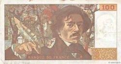 100 Francs DELACROIX modifié FRANCE  1979 F.69.02b TB