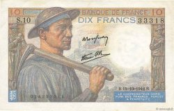10 Francs MINEUR FRANCE  1942 F.08.04 pr.SUP