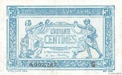50 Centimes TRÉSORERIE AUX ARMÉES FRANCE  1917 VF.01.07 TTB+