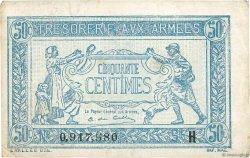 50 Centimes TRÉSORERIE AUX ARMÉES FRANCE  1917 VF.01.08 TB