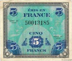 5 Francs DRAPEAU FRANCE  1944 VF.17.01 TB