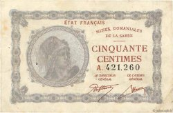 50 Centimes MINES DOMANIALES DE LA SARRE FRANCE  1920 VF.50.01 TB+