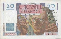 50 Francs LE VERRIER FRANCE  1951 F.20.17 SUP+