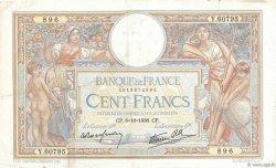 100 Francs LUC OLIVIER MERSON type modifié FRANCE  1938 F.25.30 pr.TTB
