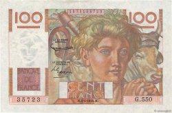 100 Francs JEUNE PAYSAN FRANCE  1953 F.28.37 pr.SPL