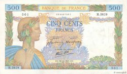 500 Francs LA PAIX FRANCE  1941 F.32.23 SUP