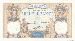 1000 Francs CÉRÈS ET MERCURE type modifié FRANCE  1940 F.38.43 SUP+