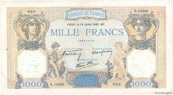 1000 Francs CÉRÈS ET MERCURE type modifié FRANCE  1940 F.38.50