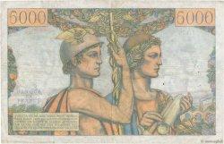 5000 Francs TERRE ET MER FRANCE  1953 F.48.08 pr.TTB