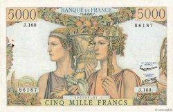 5000 Francs TERRE ET MER FRANCE  1957 F.48.14 TTB
