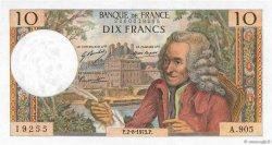 10 Francs VOLTAIRE FRANCE  1973 F.62.63 SPL