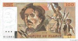 100 Francs DELACROIX FRANCE  1978 F.68.01 pr.SPL