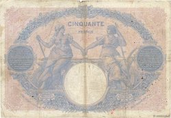 50 Francs BLEU ET ROSE FRANCE  1912 F.14.25 B+