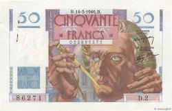 50 Francs LE VERRIER FRANCE  1946 F.20.01 pr.SPL