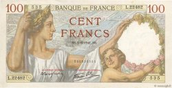 100 Francs SULLY FRANCE  1941 F.26.53 SUP